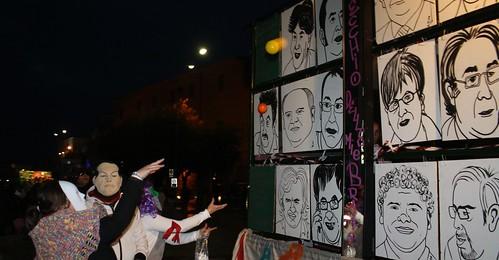 L'ex vicesindaco Modesto Scagliusi in un ritratto satirico del Carnevale 2012