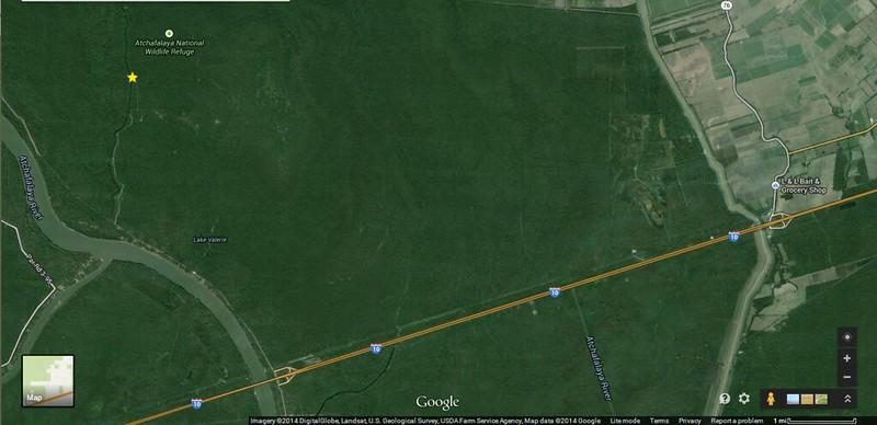 Big Alabama Bayou Map