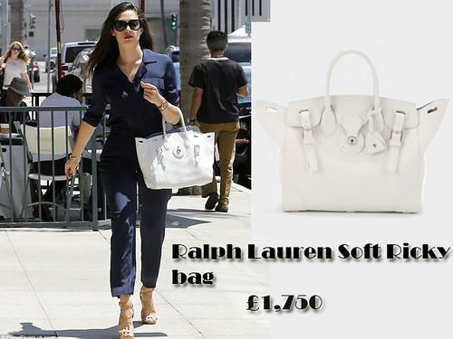 White Ralph Lauren Soft Ricky tote bag