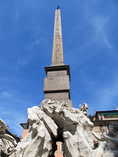 Изображение Obelisco Agonale. italy rome fountain four spring rivers obelisk piazza navona 2014