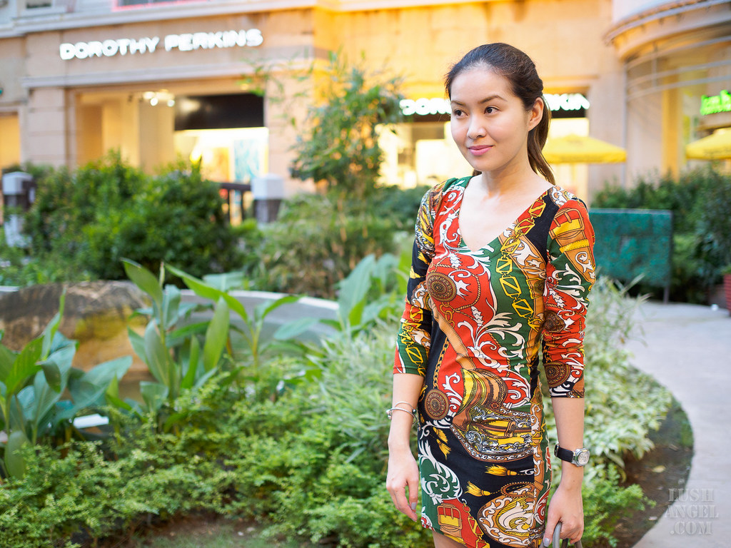 scarf-print-dress