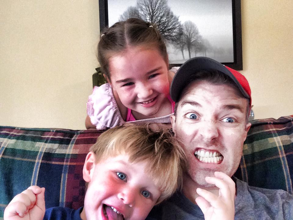 Hanging out with my crazy niece and nephew