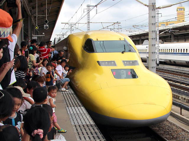 JR東海道新幹線こだまドクターイエロー三河安城駅3