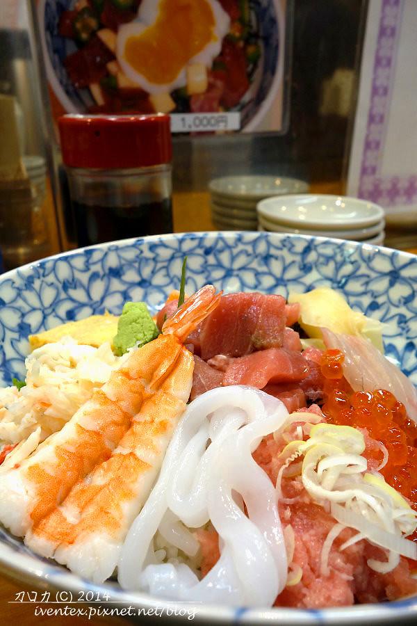 37日本東京築地市場つきじ かんの菅野商店生魚片丼飯
