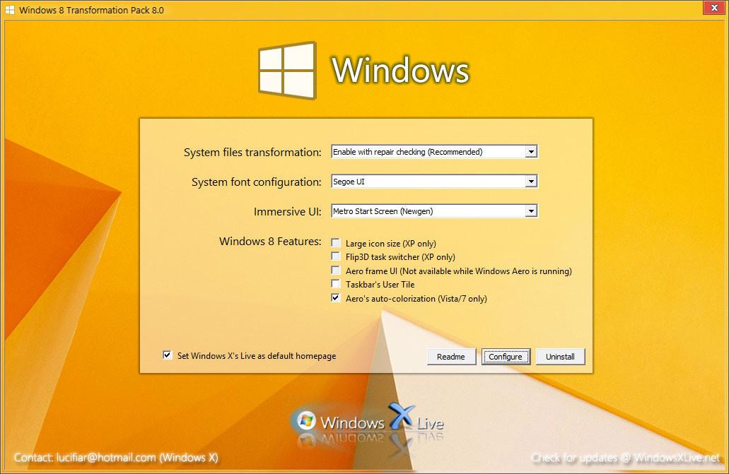 ������ ������ ����� Windows