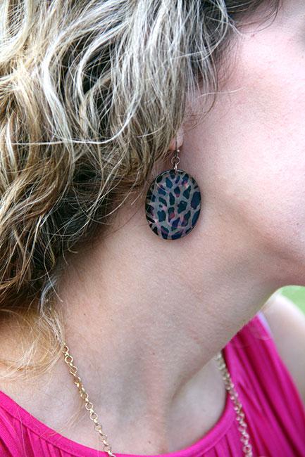 Leopard-print-earring