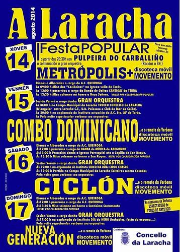 A Laracha 2014 - Festas patronais - cartel