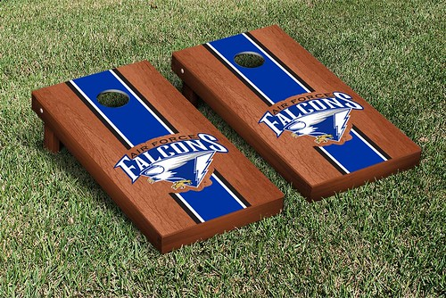 Air Force Academy Falcons Cornhole Game Set Stained Striped Wooden
