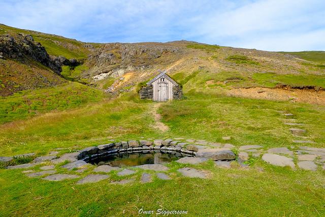 Vikings hot tub 9th century Iceland