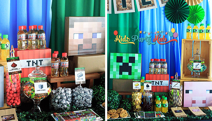 Minecraft Theme Party Decoration Ideas