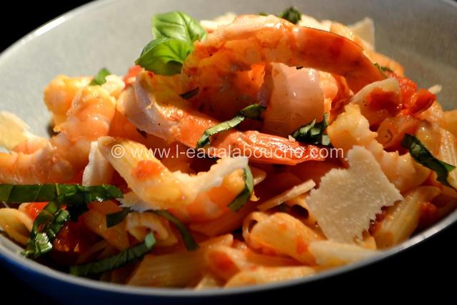 Penne Rigate aux Crevettes à l'Arrabiata © Ana Luthi Tous droits réservés 036