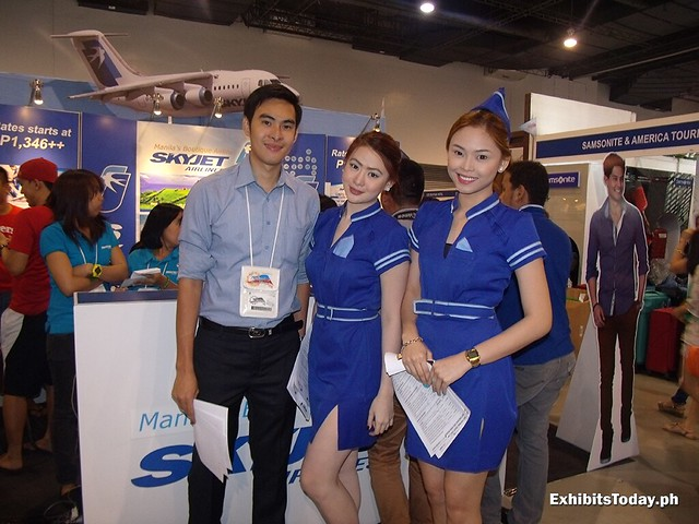 Skyjet Airlines Exhibit Booth with Janine Lao and Quennie Cosca