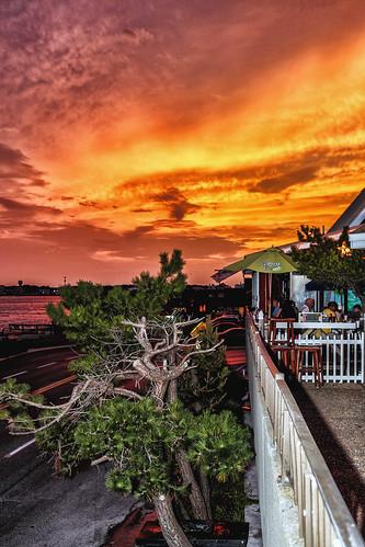 pink sunset orange golden maryland surprise oceancity umber harrisons unprepared
