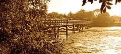 Old wooden foot bridge