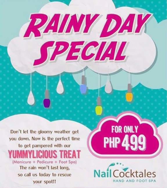 nail cocktales bluebay walk rainy day special