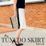 how to make a tuxedo skirt square
