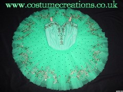 SEA GREEN/GOLD CLASSICAL BALLET TUTU