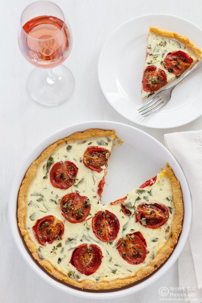 Polenta Tomato Basil Tart (0074)