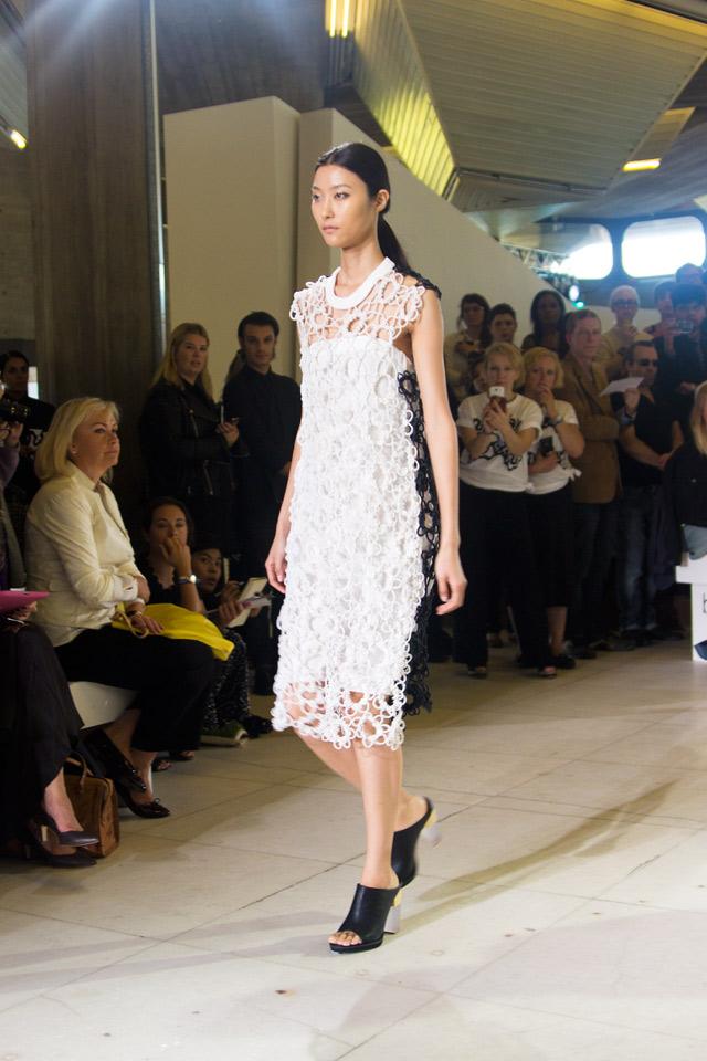 Issa SS15 London Fashion Week crochet dress