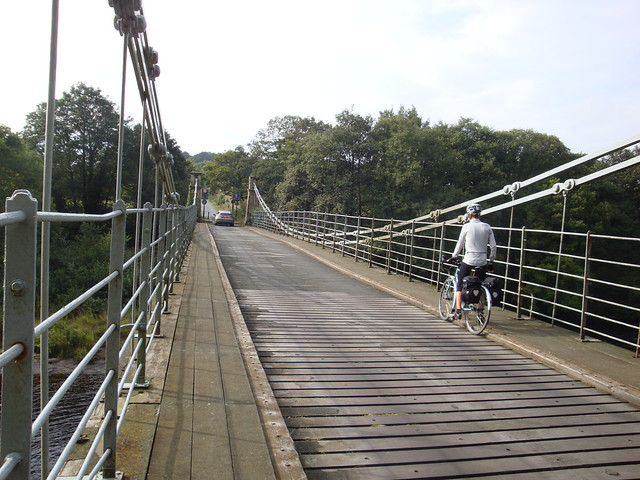 Whorlton wooden bridge over Tees