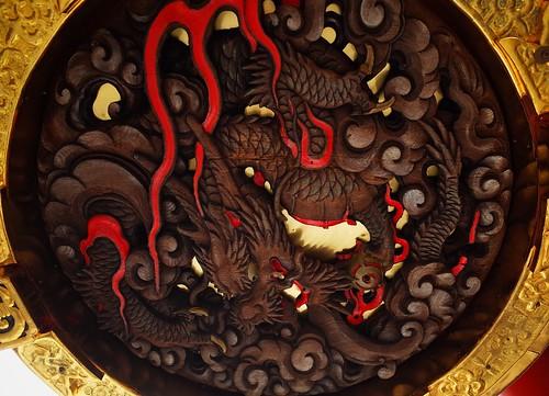 Kaminarimon Gate viewed from below
