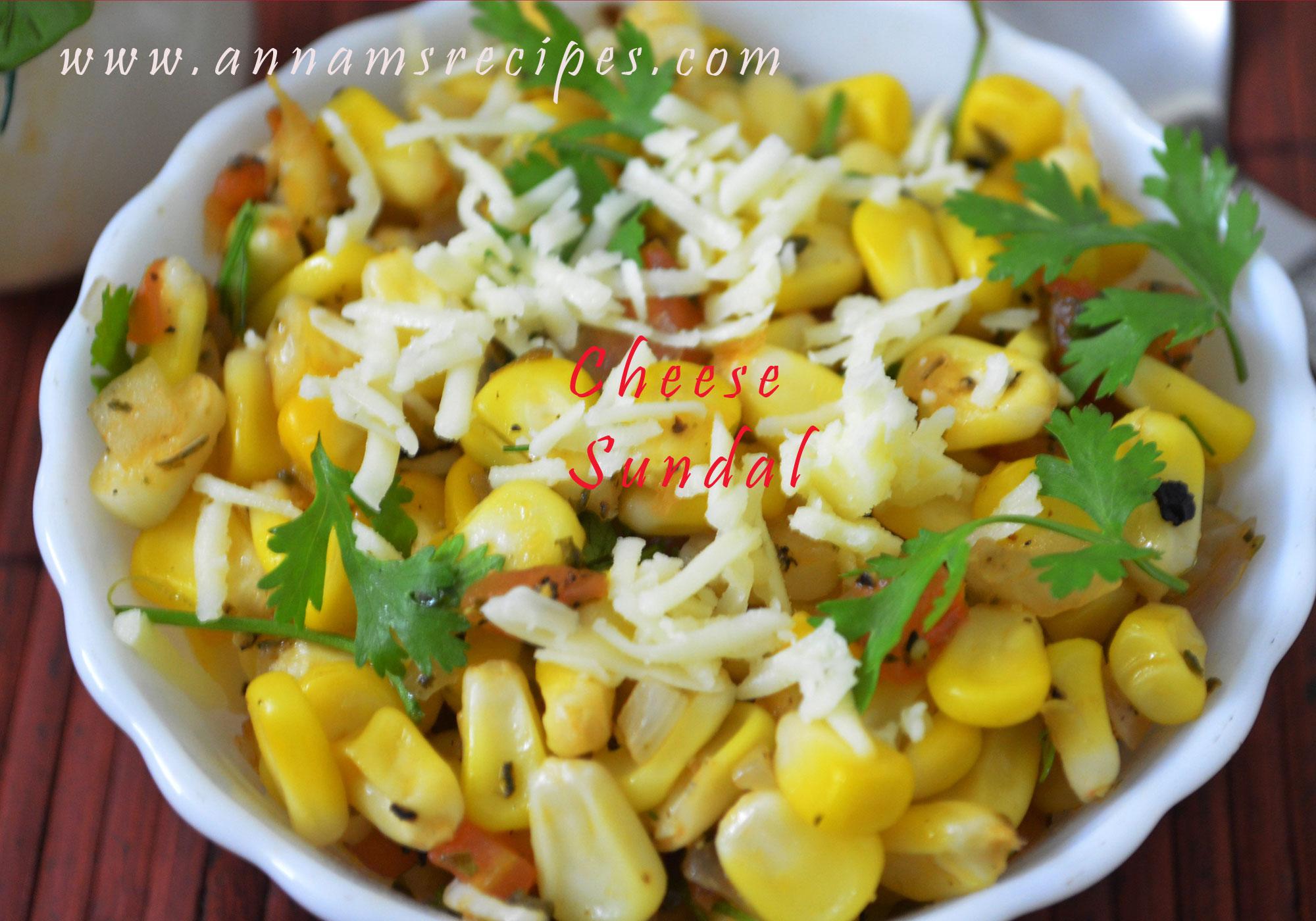 Sweet Corn Cheese Sundal