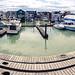Floating Houses and Marina Panorama beside the Westham Island Bridge