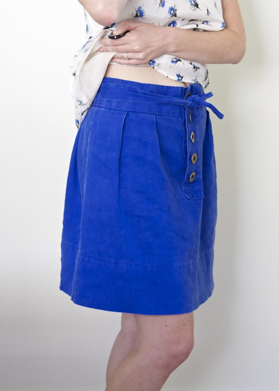Linen Wiksten skirt with placket