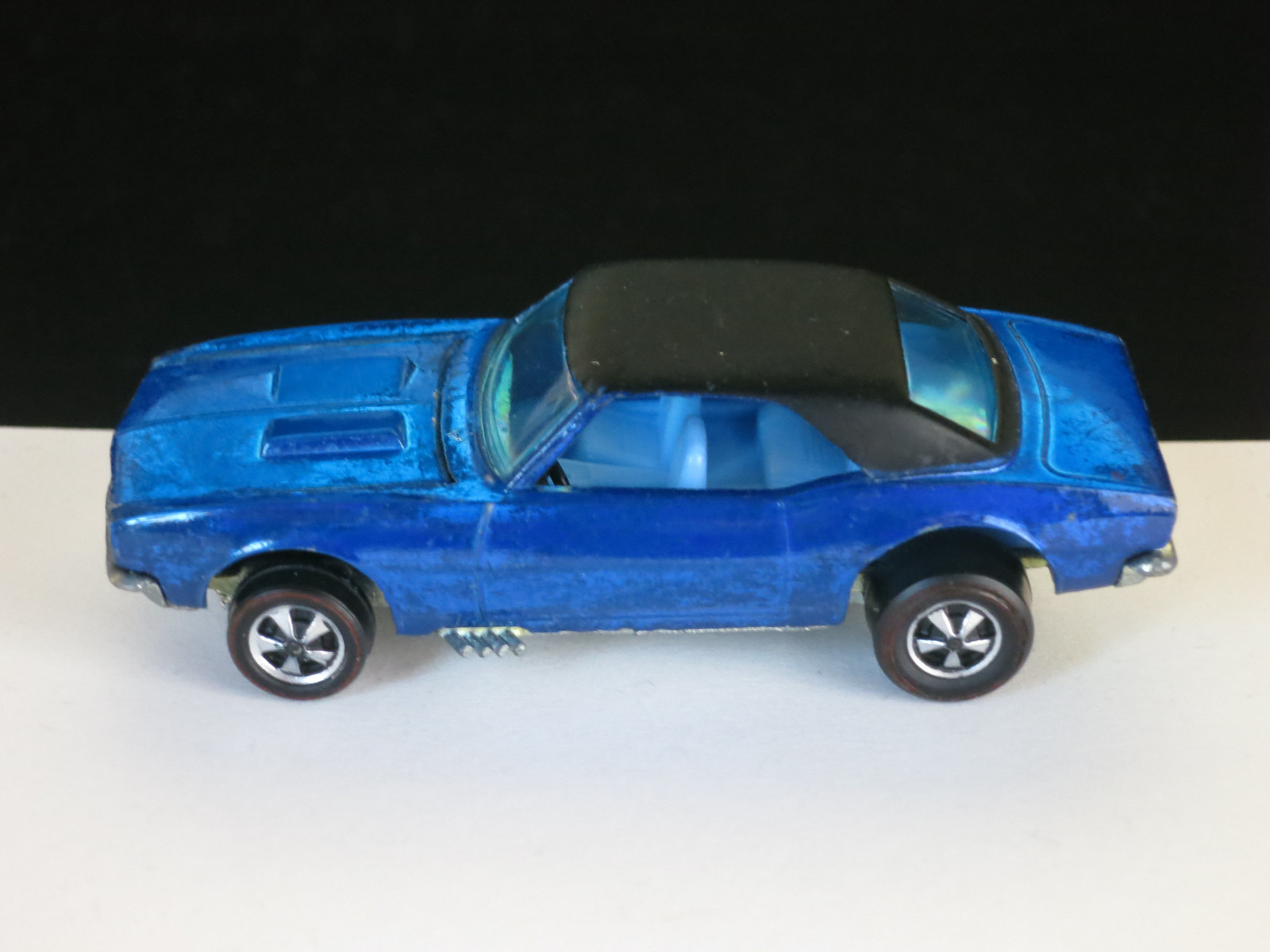 Hot Wheels Redline Blue Custom Camaro Early Production HK
