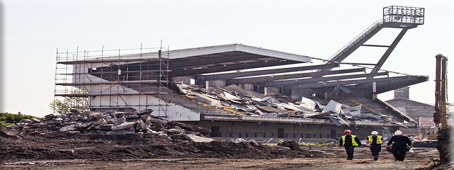 picture of The Vetch Field Stadium demolition