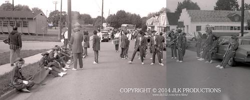Tri-X Files 84_24.01/02: Parade Line-Up Street View