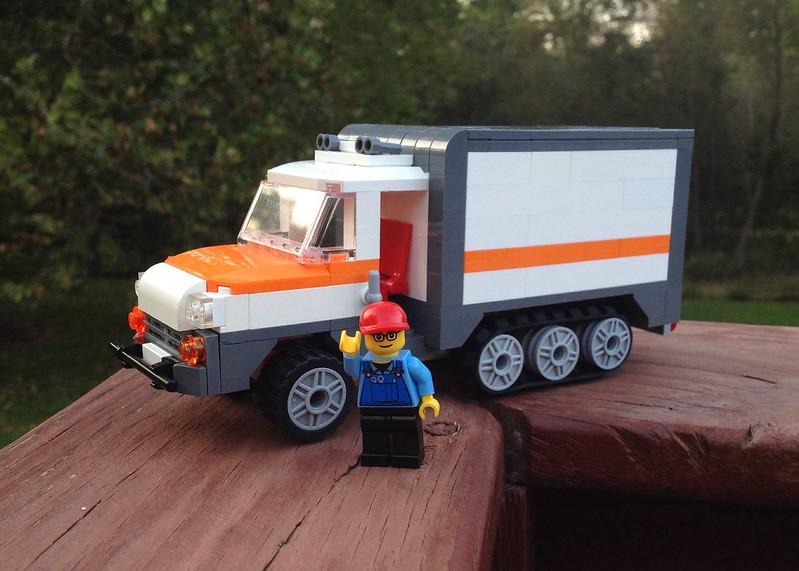 MOC: Half-track UHaul Truck - LEGO Town - Eurobricks Forums