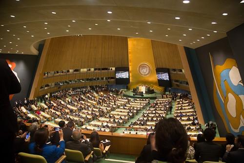 聯合國氣候峰會23日在紐約召開(圖片取自聯合國會議官網)
