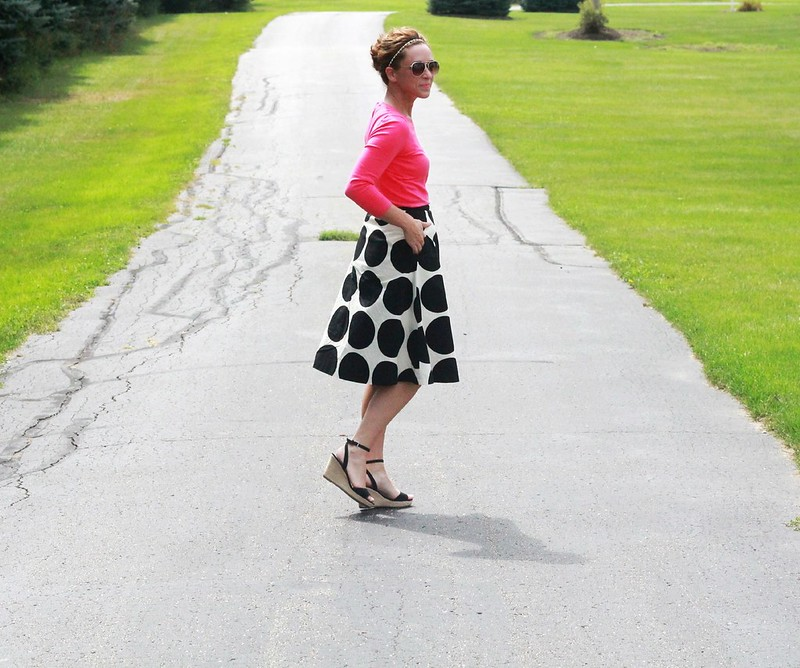 add pink to the black and white trend via Kristina J blog