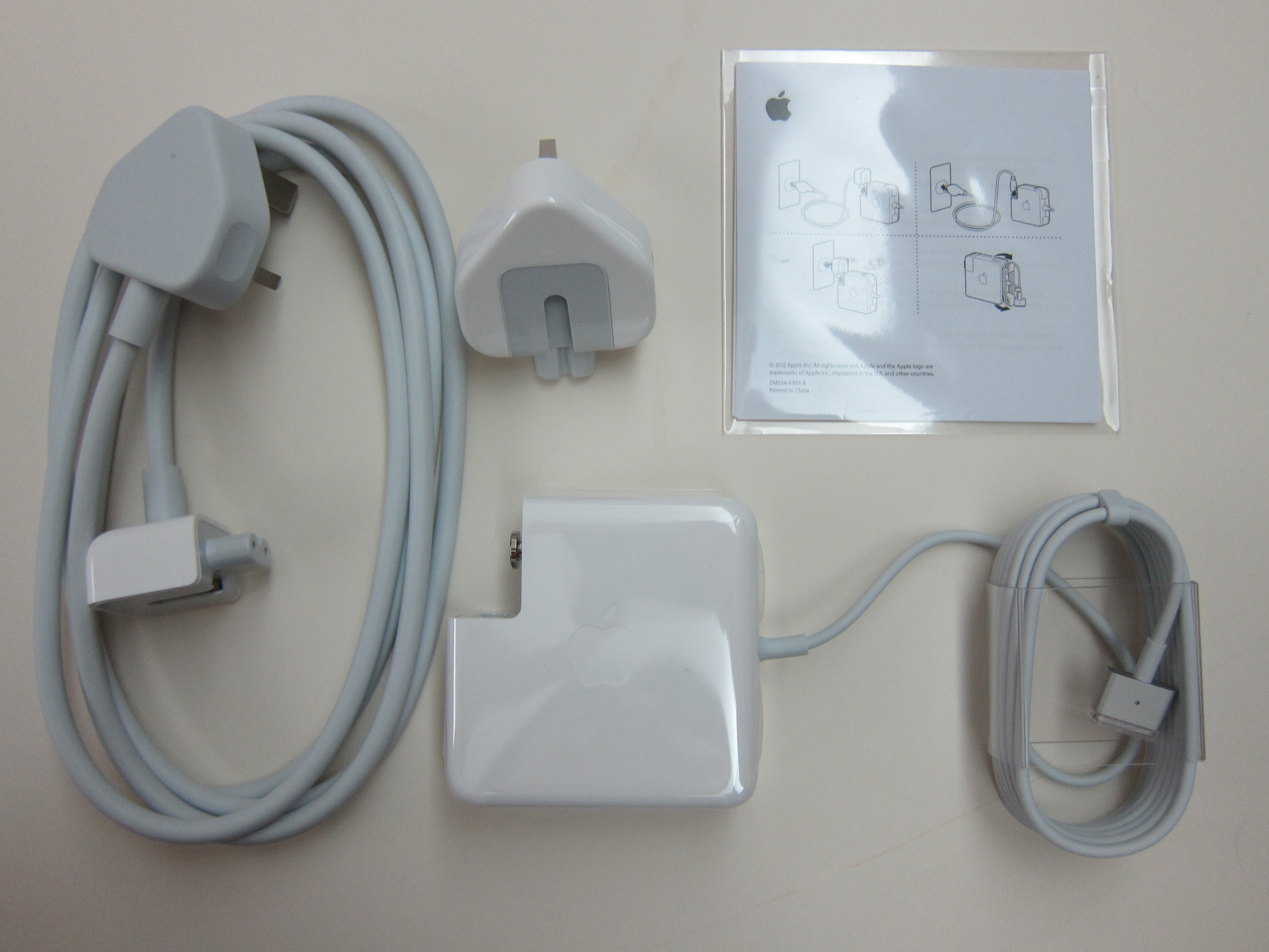 Apple 60w magsafe 2 power adapter blog for Mac due the box