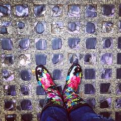 So much history beneath these glass sidewalk tiles. #Seattle #undergroundseattle #wellies