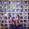 So much history beneath these glass sidewalk tiles. #Seattle #undergroundseattle #wellies