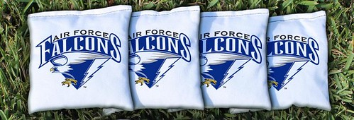 AIR FORCE ACADEMY FALCONS WHITE CORNHOLE BAGS