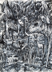 deer dream doodle