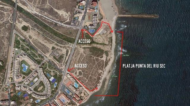 Playa Can de El Campello: Platja Punta del Riu.