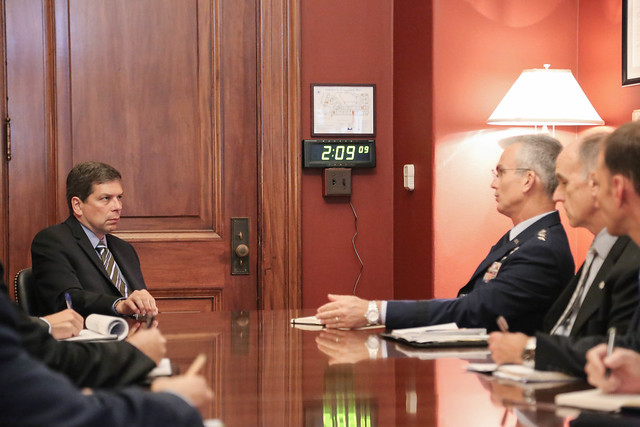 Senator Begich meets with General Selva
