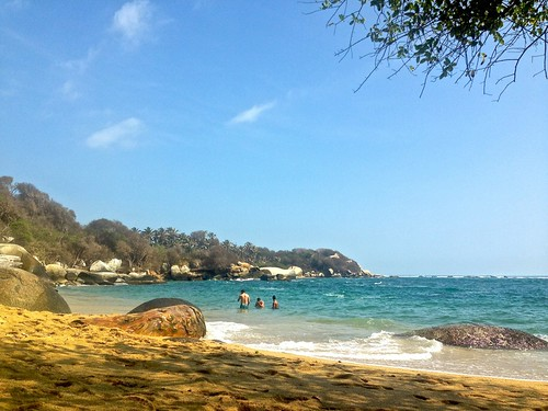 quiet morning in La Aranilla beach, Tayrona