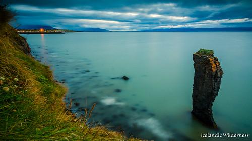 seascape nature water iceland northwest seastack blönduós norðurlandvestra