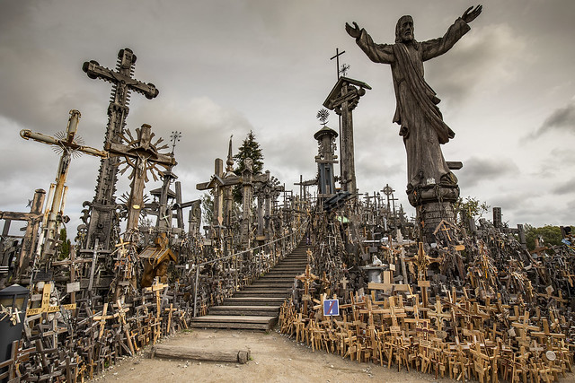 The hill of crosses. Lithuania.