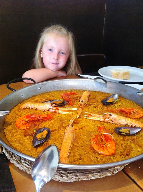 Nora with Paella