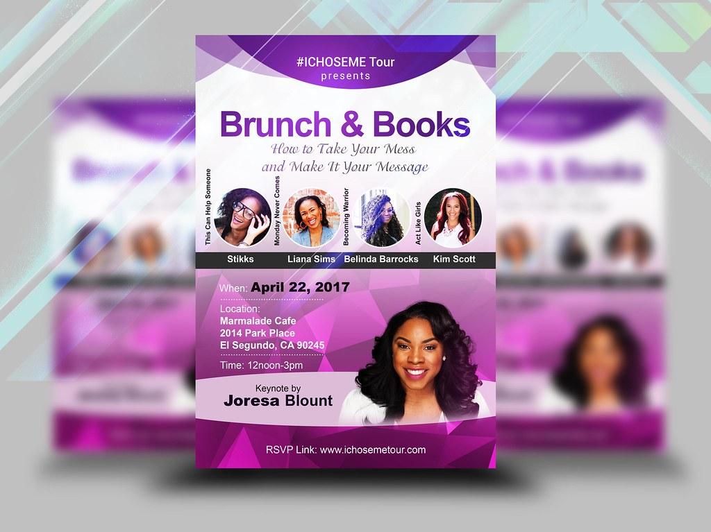 brunch books womens flyer design