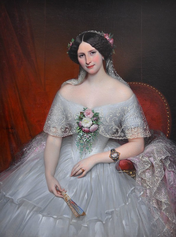 """Rouen (Seine-Maritime) - Musée des Beaux-Arts - """"Madame Félix-Archimède Pouchet, 1849"""" (Joseph-Désiré Court, 1796-1865)"""