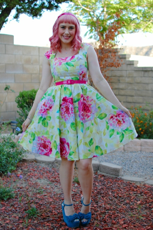 bernie dexter veronique blush cabbage rose dress 3