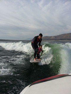 Ellie surfing