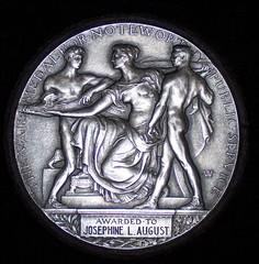 Vail medal reverse